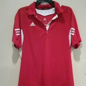 Adidas Climate Red/White Soccer Polo EUC sz XL